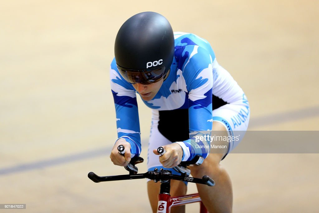 Sarah Ellington of Auckland competes in the Para-Cyclist Women C1-5 500m TT final during the New Zealand Track Cycling Championships on February 21, 2018 in Invercargill, New Zealand.