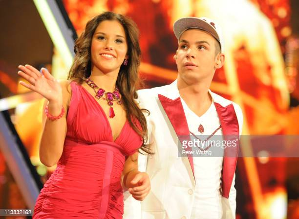 Sarah Engels and Pietro Lombardi during the 'Deutschland Sucht Den Superstar' Finale on May 07 2011 in Cologne Germany