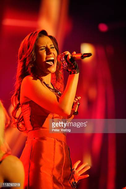 Sarah Engels performs her first song during the 'Deutschland Sucht Den Superstar' TV Show on April 30 2011 in Cologne Germany