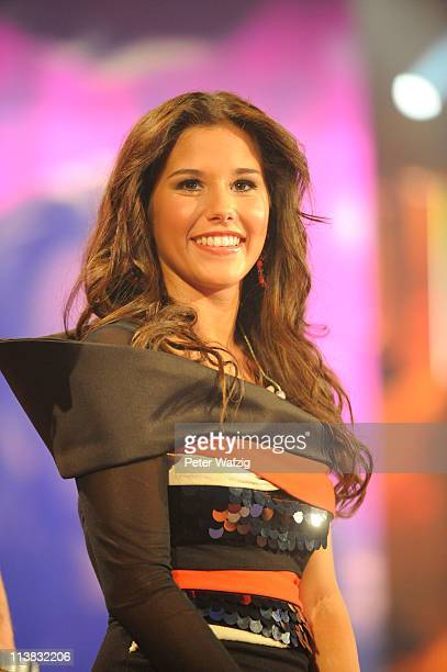 Sarah Engels performs her first song during the 'Deutschland Sucht Den Superstar' Finale on May 07 2011 in Cologne Germany