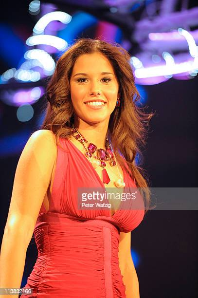 Sarah Engels performs her third song during the 'Deutschland Sucht Den Superstar' Finale on May 07 2011 in Cologne Germany