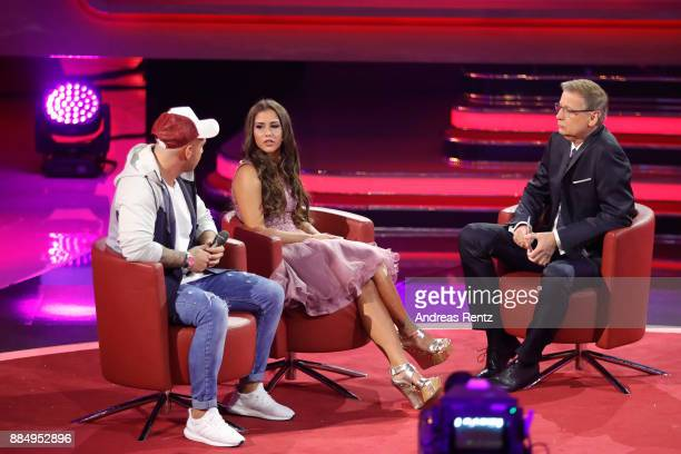 Sarah Engels Pietro Lombardi and Guenther Jauch are seen on stage at '2017 Menschen Bilder Emotionen' TV Show on December 3 2017 in Huerth Germany