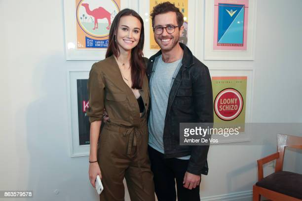 Sarah English and Nolan Meyers attend Kristin Simmons solo show 'Desperate Pleasures' on October 19 2017 in New York City