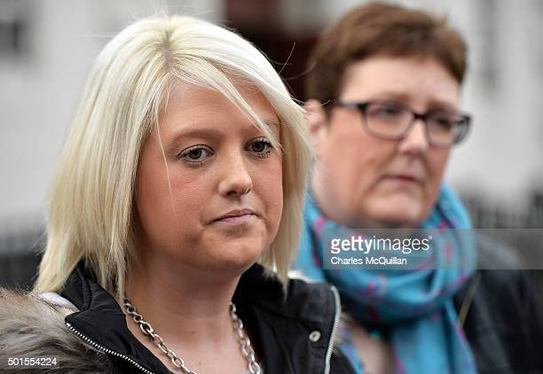 Sarah Ewart pictured with her mother Jane Christie outside Belfast Magistrates' Court following Mr Justice Horner's landmark ruling on the issue of...