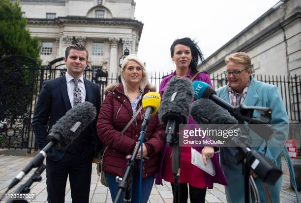 Sarah Ewart reacts outside Belfast High Court after the landmark ruling in her favour which found that Northern Irelands strict abortion laws...