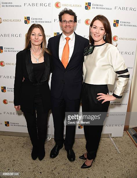 Sarah Faberge Sean Gilbertson CEO of Faberge and Justine Waddell attend as Kino Klassika Celebrates the 90th Anniversary of Eisenstein's Iconic...