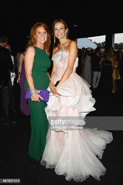 Sarah Ferguson and Carolina Parson attend the Cocktail reception during The Leonardo DiCaprio Foundation 2nd Annual SaintTropez Gala at Domaine...