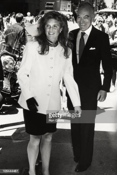 Sarah Ferguson and Leonard Lauder during Sarah Ferguson As The Luncheon Guest of Honor at La Grenouille in New York City New York United States