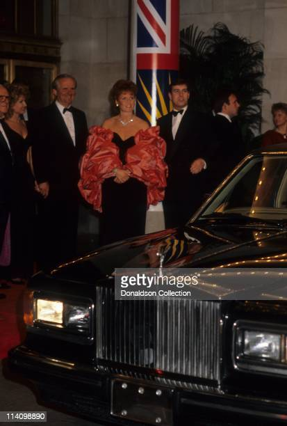 Sarah Ferguson and Prince Andrew at Bel Age Hotel Event in February 1988 in Los Angeles California