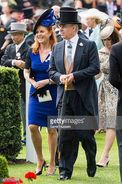 Sarah Ferguson and Prince Andrew Duke of York attend day 4 of Royal Ascot at Ascot Racecourse on June 19 2015 in Ascot England