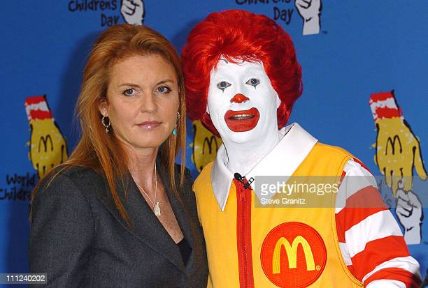 Sarah Ferguson and Ronald McDonald during 2005 World Children's Day at The Los Angeles Ronald McDonald House at Ronald McDonald House in Hollywood...