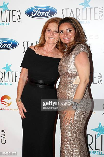 Sarah Ferguson and Sandra Garcia-Sanjuan attend Starlite Gala on August 6, 2016 in Marbella, Spain.