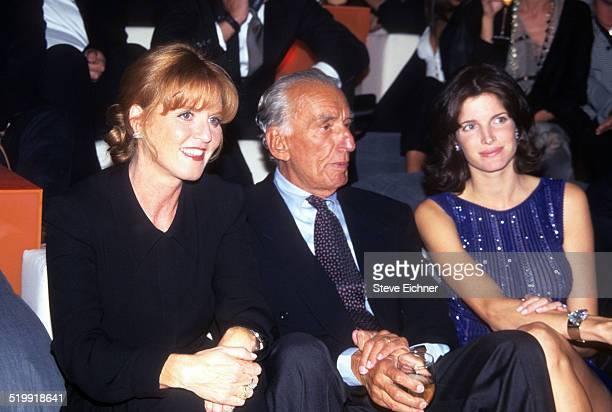 Sarah Ferguson and Stephanie Seymour at a fashion show New York 1996