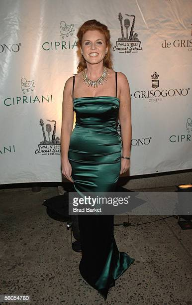 Sarah Ferguson arrives for The Cipriani Wall Street Concert Series at Cipriani Wall Street on November 1, 2005 in New York City.