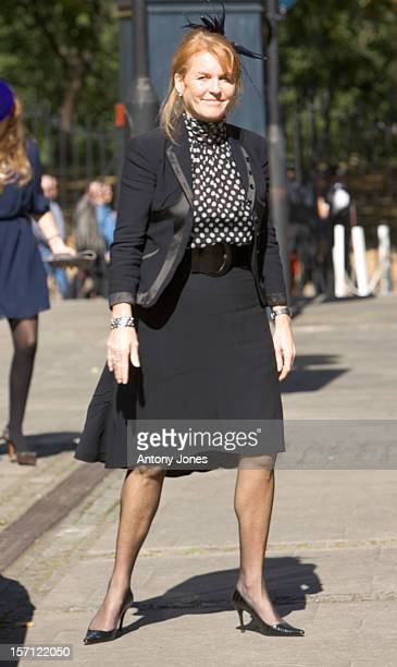 Sarah Ferguson Attending The Memorial Service For Isabella Blow At The Guards Chapel Birdcage Walk London