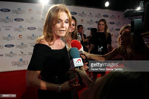 Sarah Ferguson attends Starlite Gala on August 6, 2016 in Marbella, Spain.