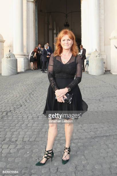 Sarah Ferguson attends the Dinner and Entertainment at Palazzo Colonna as part of the 2017 Celebrity Fight Night in Italy Benefiting The Andrea...