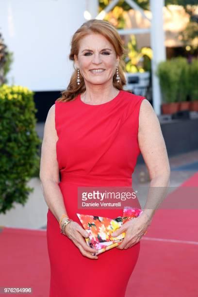 Sarah Ferguson attends the 'Filming Italy Sardegna Festival' at Forte Village Resort on June 16 2018 in Santa Margherita di Pula Cagliari Italy