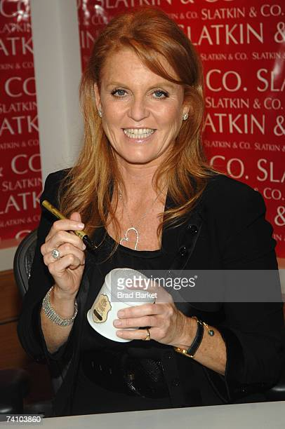 Sarah Ferguson attends the launch of Sarah Duchess of York Tea Collection at the Bath and Body Works flagship store on May 8 2007 in New York City
