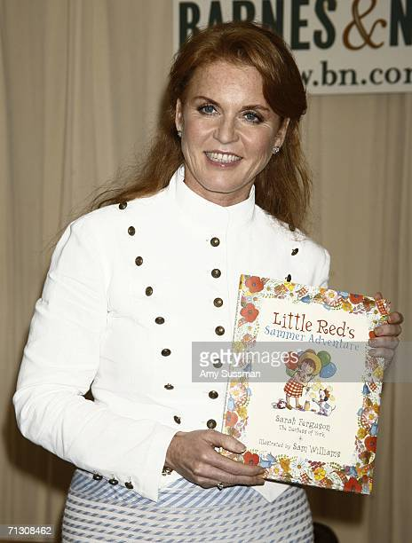 """Sarah Ferguson attends the signing her book """"Little Red's Summer Adventure"""" at Barnes & Nobel June 27, 2006 in New York City."""