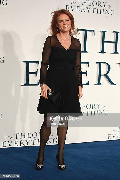 """Sarah Ferguson attends the UK Premiere of """"The Theory Of Everything"""" at Odeon Leicester Square on December 9, 2014 in London, England."""