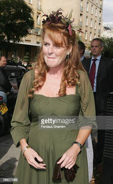 Sarah Ferguson attends the wedding of Chloe Delevingne and Louis Buckworth on September 7 2007 in London England