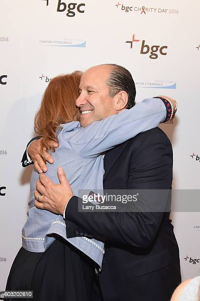Sarah Ferguson Duchess of York and Chairman and CEO of Cantor Fitzgerald Howard Lutnick attend Annual Charity Day hosted by Cantor Fitzgerald BGC and...