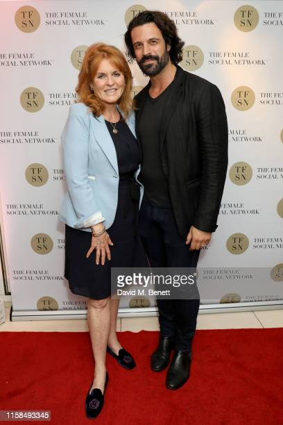 Sarah Ferguson Duchess of York and Christian Vit attend the UK launch of The Female Social Network at The Ivy on June 26 2019 in London England Photo...