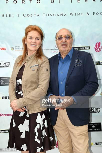 Sarah Ferguson Duchess of York and Dante Ferretti attend Matchless E Bike Presentation on June 5 2016 at Casone Ugolino in Castagneto Carducci near...