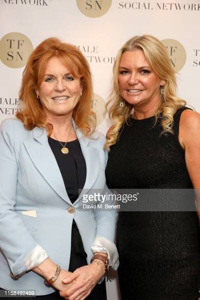 Sarah Ferguson Duchess of York and Fi Bendall attend the UK launch of The Female Social Network at The Ivy on June 26 2019 in London England Photo by...