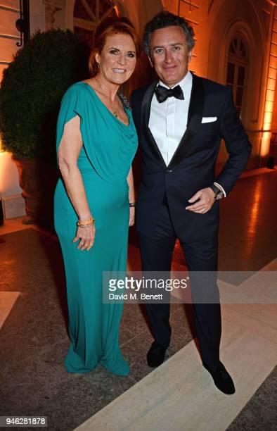 Sarah Ferguson Duchess of York and FIA Formula E CEO Alejandro Agag attend the ABB FIA Formula E Gala Dinner hosted by Bulgari at Villa Miani on...