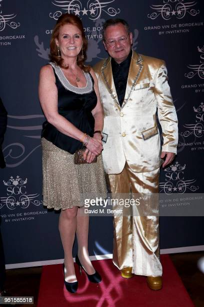 Sarah Ferguson, Duchess of York and Fred Zantman attend the Le Cercle SGC Dinner, 'A Golden Affair' at Cafe Royal on April 26, 2018 in London,...