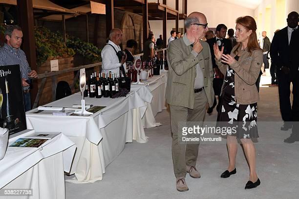 Sarah Ferguson Duchess of York and Gaddo della Gherardesca attend Matchless E Bike Presentation on June 5 2016 at Casone Ugolino in Castagneto...