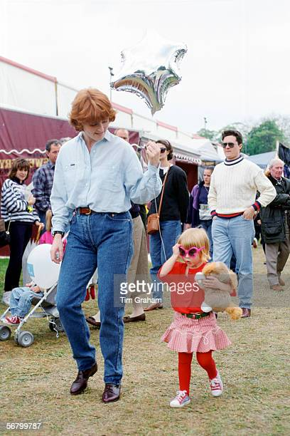 Sarah Ferguson Duchess of York and her daughter Princess Beatrice at the Royal Windsor Horse Show
