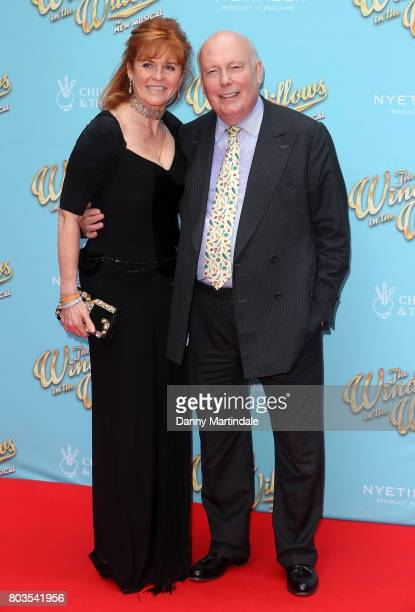 Sarah Ferguson Duchess of York and Julian Fellowes attends the Gala performance of 'Wind In The Willows' at London Palladium on June 29 2017 in...