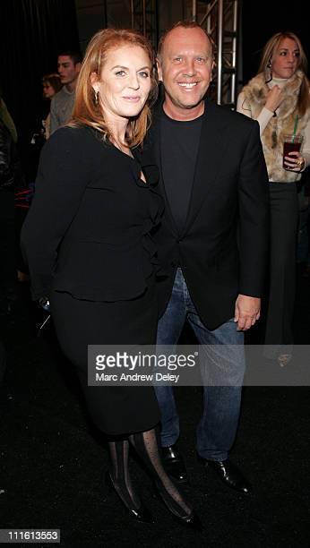 Sarah Ferguson Duchess of York and Michael Kors designer