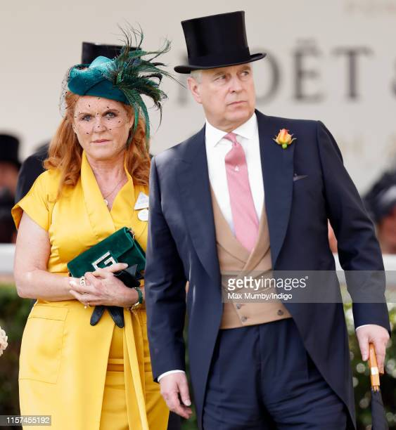 Sarah Ferguson Duchess of York and Prince Andrew Duke of York attend day four of Royal Ascot at Ascot Racecourse on June 21 2019 in Ascot England