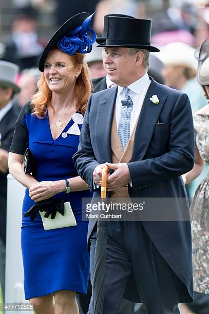 Sarah Ferguson Duchess of York and Prince Andrew Duke of York on day 4 of Royal Ascot at Ascot Racecourse on June 19 2015 in Ascot England