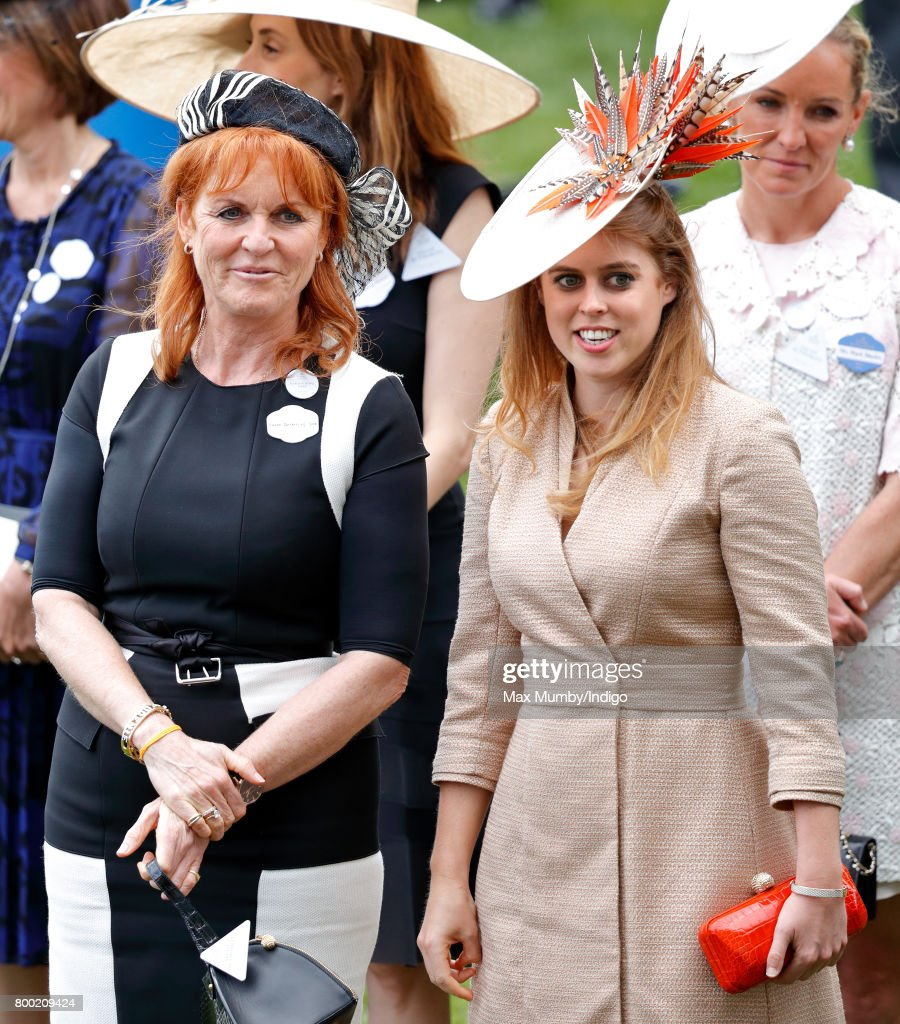 Sarah Ferguson, Duchess of York and Princess Beatrice attend day 4 of Royal Ascot at Ascot Racecourse on June 23, 2017 in Ascot, England.
