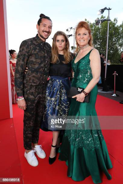 Sarah Ferguson Duchess of York and Princess Beatrice of York and guest attend the Fashion for Relief event during the 70th annual Cannes Film...