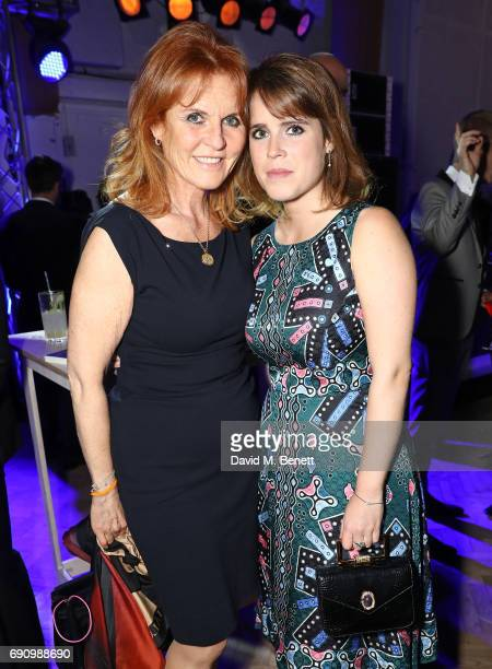 Sarah Ferguson Duchess of York and Princess Eugenie attend the 50th anniversary of The Beatles SGT Pepper Album at Abbey Road Studios for End The...