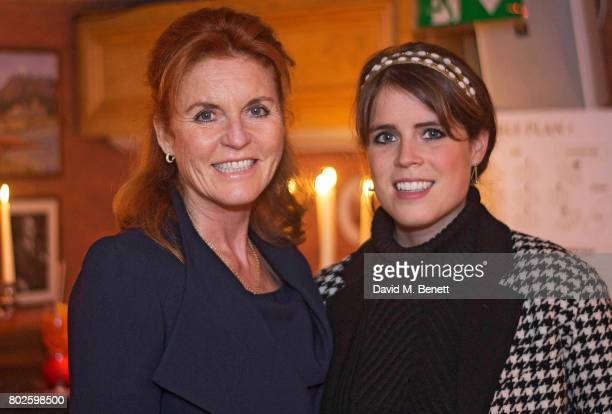 Sarah Ferguson Duchess of York and Princess Eugenie attend The Miles Frost Fund party at Bunga Bunga Covent Garden on June 27 2017 in London England