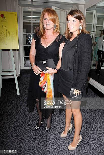 Sarah Ferguson Duchess of York and Princess Eugenie of York attend the second annual 'Freddie For A Day' event in memory of Queen's late frontman...