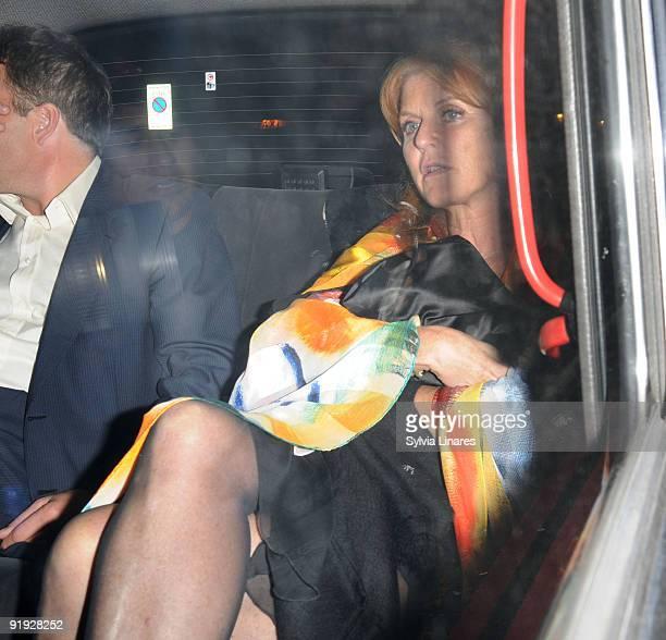 Sarah Ferguson Duchess of York attend Sarah Ferguson 50th birthday Party held at Lanesborough Hotel on October 15 2009 in London England