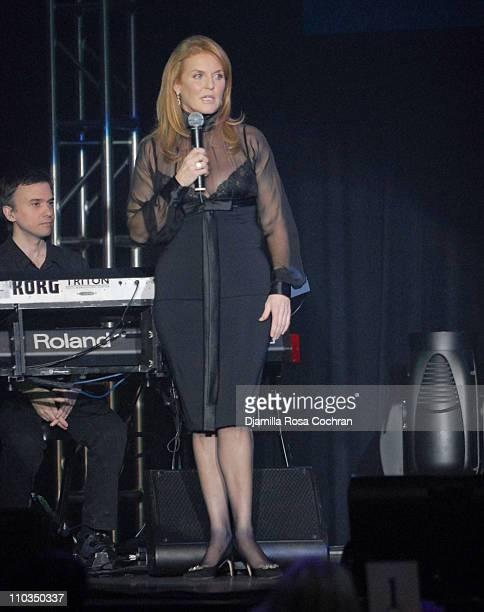 Sarah Ferguson Duchess of York attends 2007 Cipriani Wall Street Concert Series Presents Annie Lennox Show at Cipriani Wall Street on November 5th...