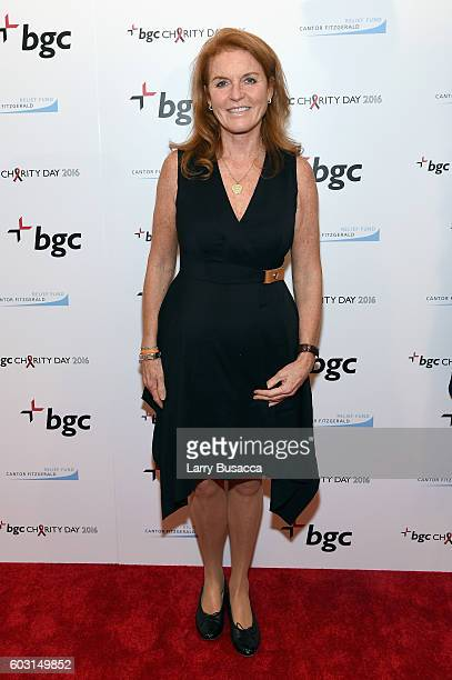 Sarah Ferguson Duchess of York attends Annual Charity Day hosted by Cantor Fitzgerald BGC and GFI at BGC Partners INC on September 12 2016 in New...