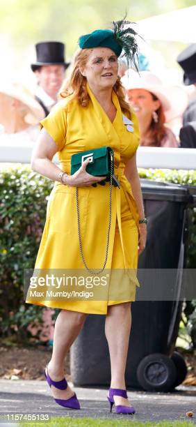 Sarah Ferguson, Duchess of York attends day four of Royal Ascot at Ascot Racecourse on June 21, 2019 in Ascot, England.