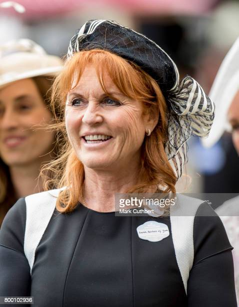 Sarah Ferguson, Duchess of York attends Royal Ascot 2017 at Ascot Racecourse on June 23, 2017 in Ascot, England.