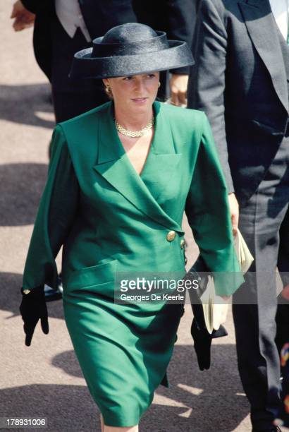 Sarah Ferguson Duchess of York attends Royal Ascot on June 21 1989 in Ascot England