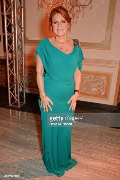 Sarah Ferguson, Duchess of York, attends the ABB FIA Formula E Gala Dinner hosted by Bulgari at Villa Miani on April 14, 2018 in Rome, Italy.